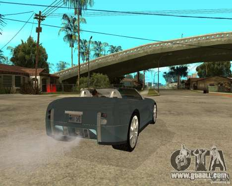 Ford Cobra Concept for GTA San Andreas back left view