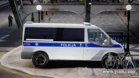 Ford Transit Polish Police [ELS] for GTA 4 back view