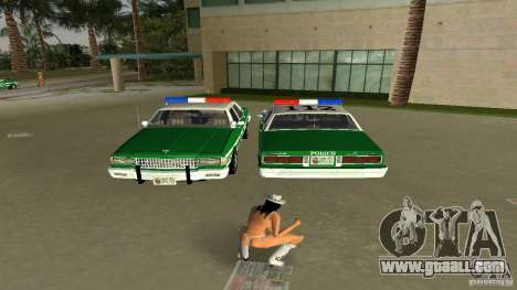 Ford LTD Crown Victoria 1985 Interceptor LAPD for GTA Vice City back left view