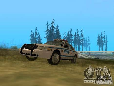 Ford Crown Victoria NYPD Police for GTA San Andreas left view