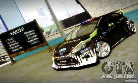Ford Fiesta Gymkhana 4 for GTA San Andreas bottom view