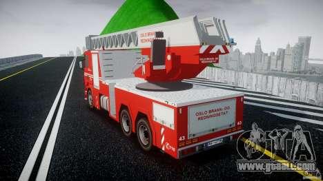 Scania Fire Ladder v1.1 Emerglights blue [ELS] for GTA 4 back left view