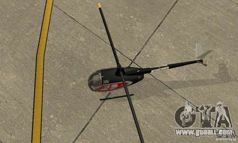 Robinson R44 Raven II NC 1.0 Skin 2 for GTA San Andreas back view