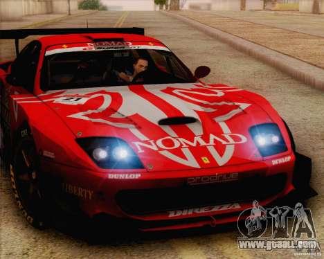 Ferrari 550 Maranello Super GT500 for GTA San Andreas back left view