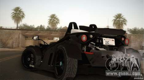 KTM-X-Bow for GTA San Andreas back left view