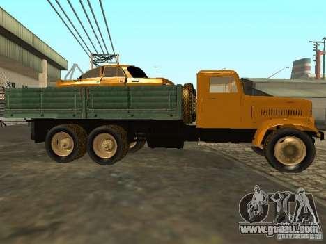 KrAZ truck flatbed v. 2 for GTA San Andreas inner view