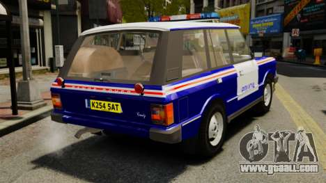 Range Rover Classic ELS for GTA 4 back left view