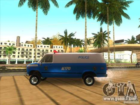 Chevrolet Van G20 BLUE NYPD 1990 for GTA San Andreas left view