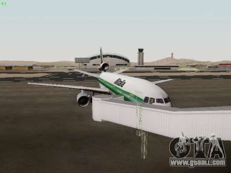 McDonell Douglas DC-10-30 Alitalia for GTA San Andreas inner view