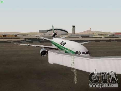 McDonell Douglas DC-10-30 Alitalia for GTA San Andreas inner view