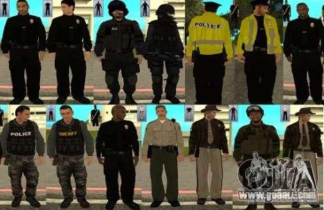Pak skins LAPD for GTA San Andreas
