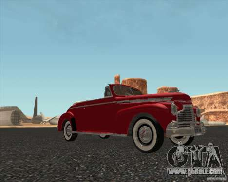 Chevrolet Special DeLuxe 1941 for GTA San Andreas back left view