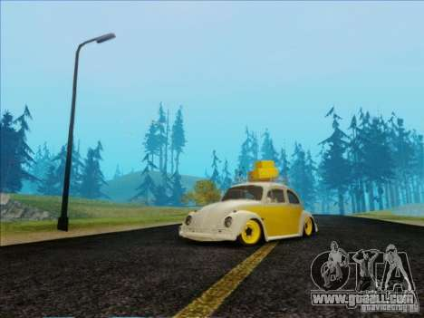 Volkswagen Beetle Edit for GTA San Andreas back view