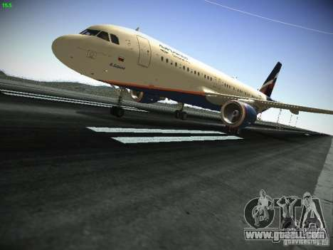 Aeroflot Russian Airlines Airbus A320 for GTA San Andreas