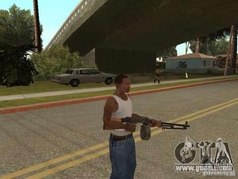 Light Machine Gun Dâgterëva for GTA San Andreas third screenshot