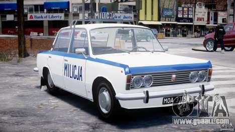 Fiat 125p Polski Milicja for GTA 4 back view