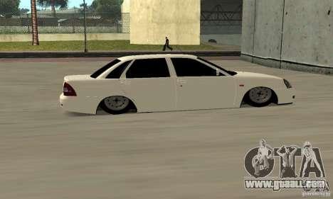 Lada Priora Low for GTA San Andreas right view