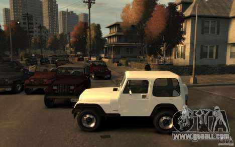 Jeep Wrangler 1986 for GTA 4 left view