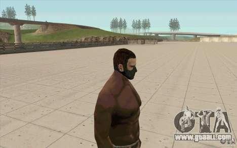 Stalker Mask for GTA San Andreas second screenshot