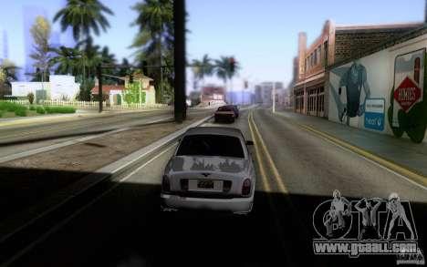 Bentley Arnage for GTA San Andreas back view