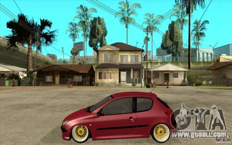 Peugeot 206 GTI for GTA San Andreas left view