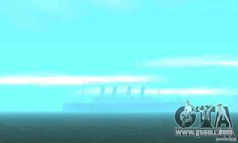 RMS Titanic for GTA San Andreas bottom view