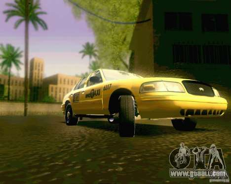 Ford Crown Victoria 2003 NYC TAXI for GTA San Andreas back view