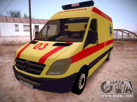 Mercedes Benz Sprinter Ambulance for GTA San Andreas
