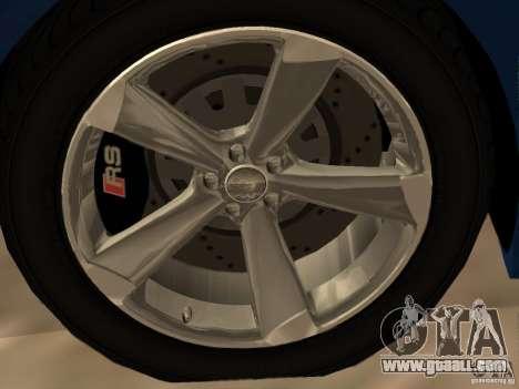 Audi TT RS for GTA San Andreas interior