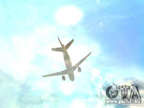 Airbus A300-600 Air France for GTA San Andreas upper view