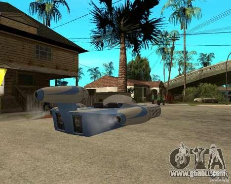 X34 Landspeeder for GTA San Andreas back left view
