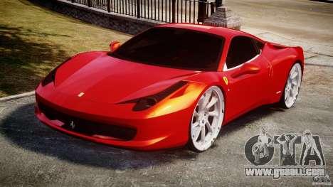 Ferrari 458 Italia Dub Edition for GTA 4 back view