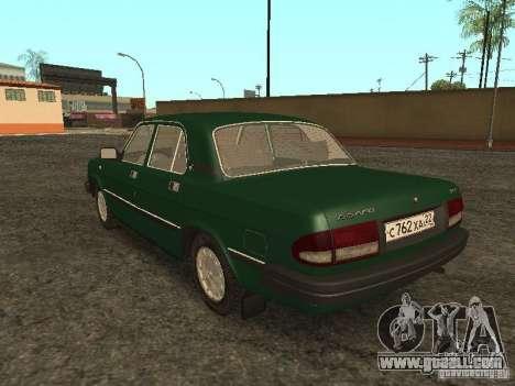 GAZ 3110 v. 2 for GTA San Andreas back left view