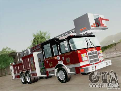 Pierce Rear Mount SFFD Ladder 49 for GTA San Andreas right view