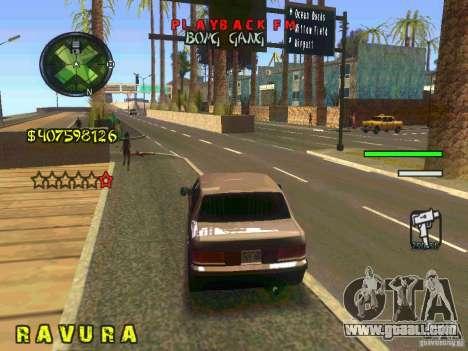 HUD Convenient and easy BETA for GTA San Andreas fifth screenshot