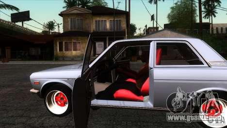 Nissan Datsun 510 for GTA San Andreas inner view