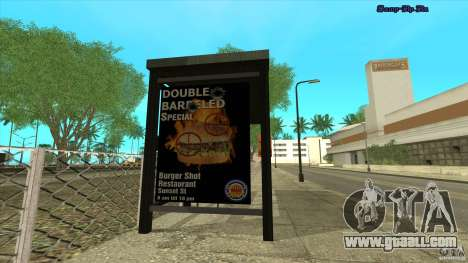 Bus stops in HD for GTA San Andreas second screenshot