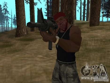 M4A1 for GTA San Andreas sixth screenshot
