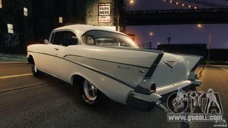 Chevrolet Bel Air Hardtop 1957 Light Tun for GTA 4 back left view