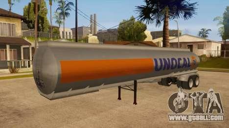 Semitrailer tank for GTA San Andreas inner view