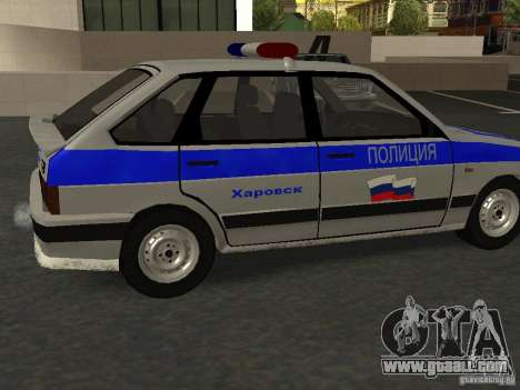 ВАЗ 2114 Police for GTA San Andreas left view