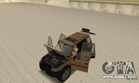Land Rover Freelander KV6 for GTA San Andreas back view