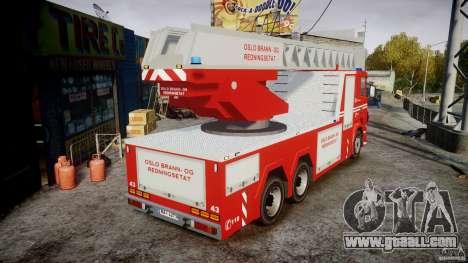 Scania Fire Ladder v1.1 Emerglights blue [ELS] for GTA 4 inner view