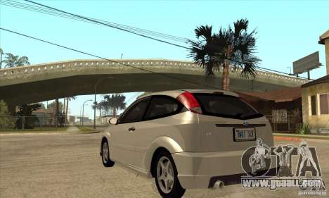 Ford Focus SVT for GTA San Andreas back left view
