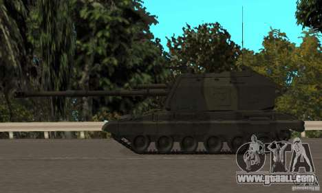 Msta-s 2s19, standard version for GTA San Andreas back left view