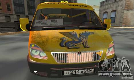 Gazelle 2705 Minibus for GTA San Andreas back view