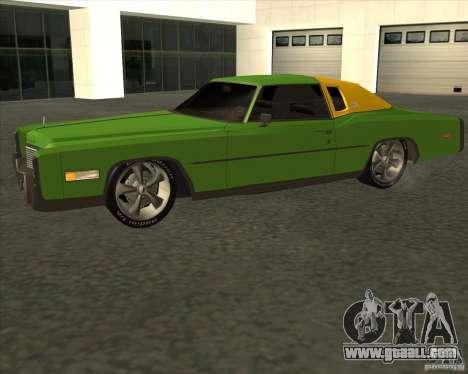 Cadillac Eldorado for GTA San Andreas inner view