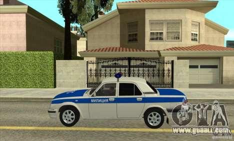GAZ 31105 Volga DPS for GTA San Andreas left view