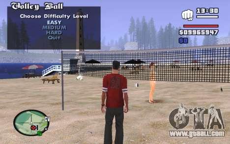 SA Volleyball for GTA San Andreas second screenshot