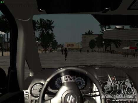 Suzuki SX4 Sportback 2011 for GTA San Andreas interior